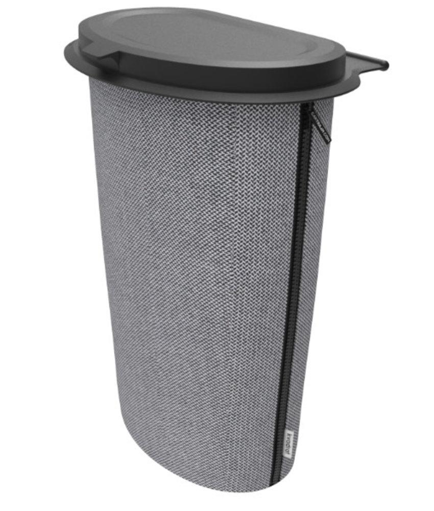Flextrash Flextrash  Prullen Afvakbak houder MAAT L = 9 liter - Stof : Complete Kvadrat  de luxe  - Graceful Grey
