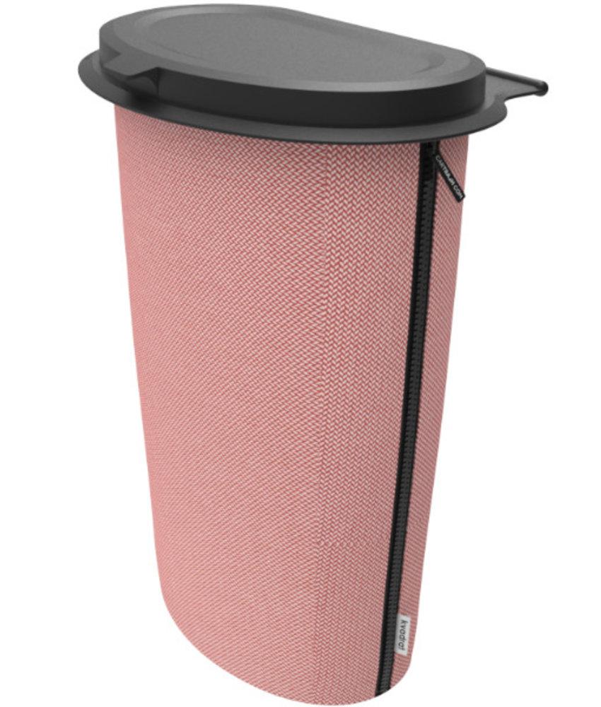 Flextrash Allround Flextrash Afvalbak 9 liter ( L ) Stof: Rosy Red / Rood