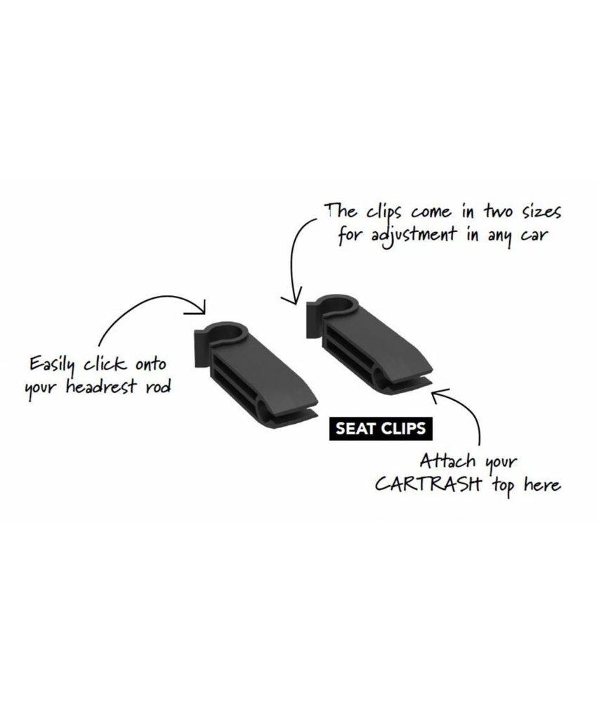 Cartrash Set2 Losse Clips om aan de hoofdsteun te bevestigen