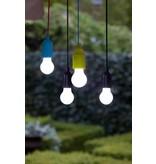 Retro Pull Lamp 1 W ( Trekkoord ) Zwart koord en witte fitting