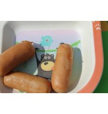 Komplete BamBoo Kinder Eet Set - decoratie: Wilde Dieren