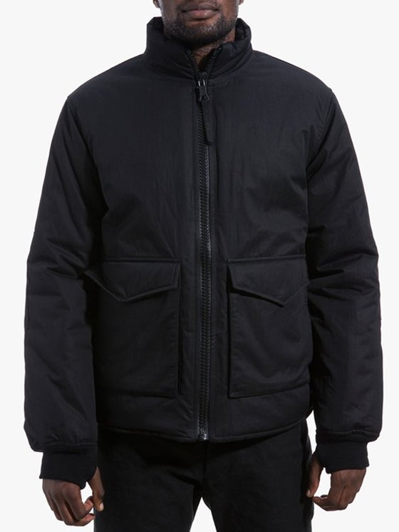 Our Legacy Puffed Funnel Jacket Washed Black