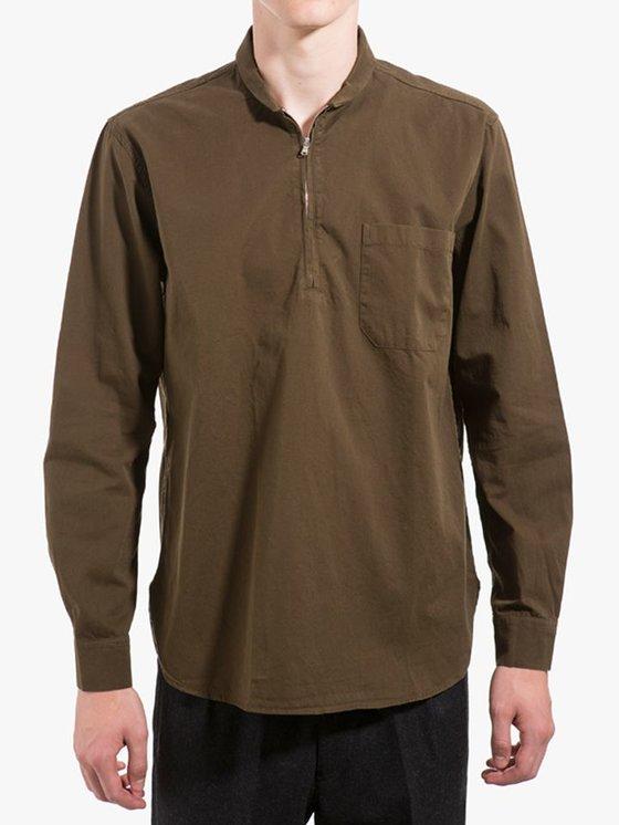 Our Legacy Shawl Zip Shirt Mudd Twill