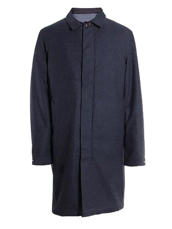 Welter Shelter Long Dong Mac Coat Navy