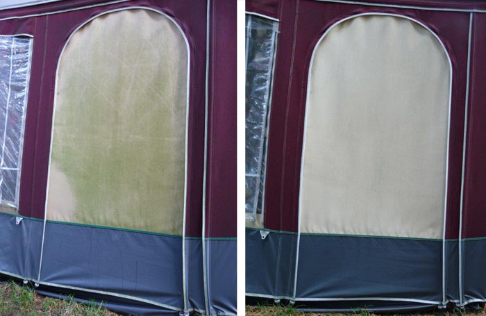 Cleaning tents using special tent sh&oo & Cleaning your tent? Ultramar makes it look like new! - UltramarXL