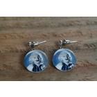 Marilyn Monroe earrings blue