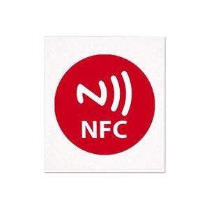 NFC-Sticker-Tag NTAG213 Logo Rood