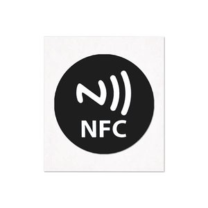 NFC-Sticker-Tag NTAG213 Zwart met nfc-logo 29mm