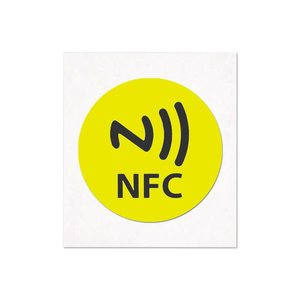 NFC-Sticker-Tag NTAG213 geel/logo 29mm.