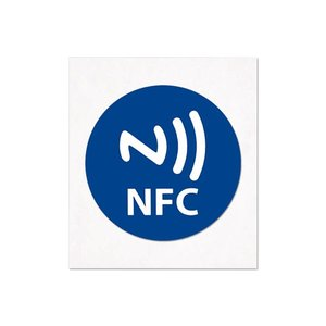 NFC-Sticker-Tag NTAG213 Standaard blauw/logo 29mm.