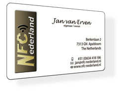 PVC visitekaartje met NFC