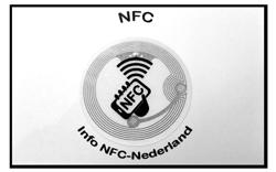Achterkant visitekaart met NFC-tag