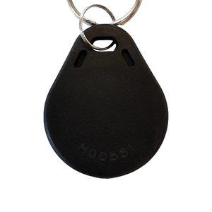 NFC-Sleutelhanger-Tag NTAG213, Zwart met Logo.