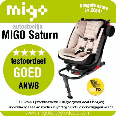 Migo autostoeltje beste getest door ANWB