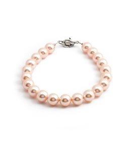 Krikor Perzik roze parel armband 8 mm