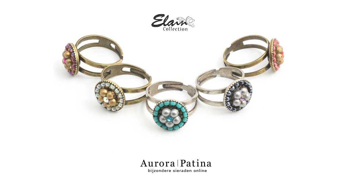 Elain collectie ringen bij Aurora Patina