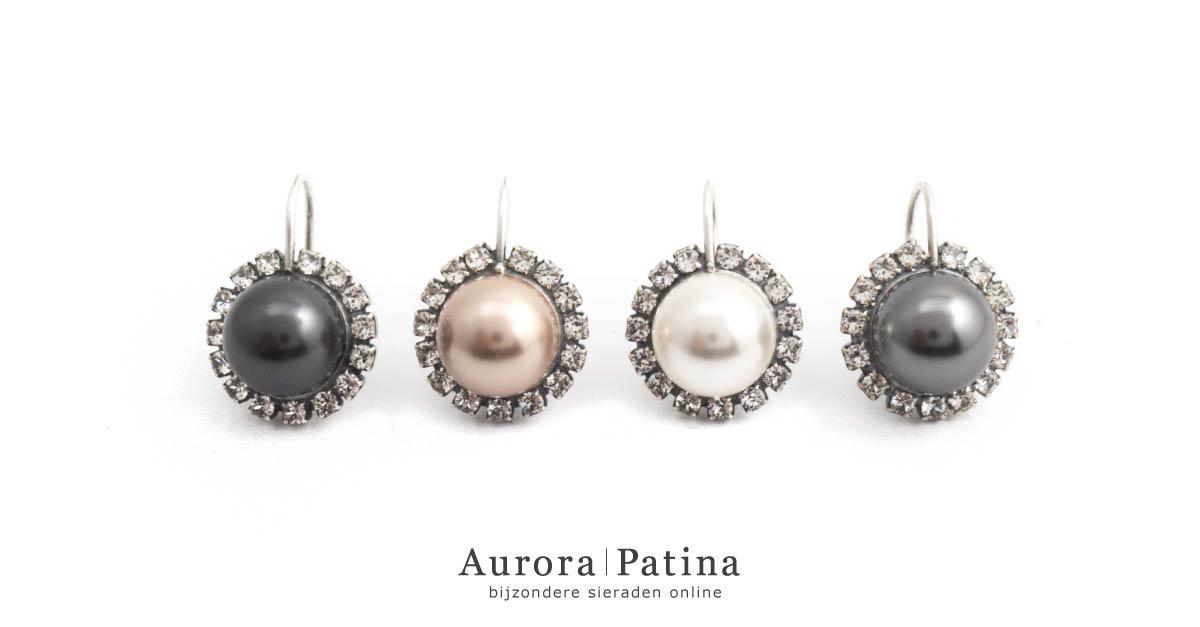 Aurora Patina parel oorbellen van Krikor