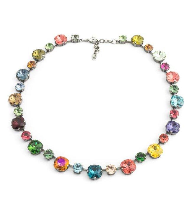 Krikor Meerkleurig collier met Swarovski kristallen