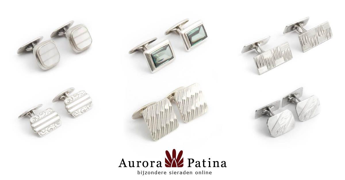 Meer zilveren manchetknopen bij Aurora Patina