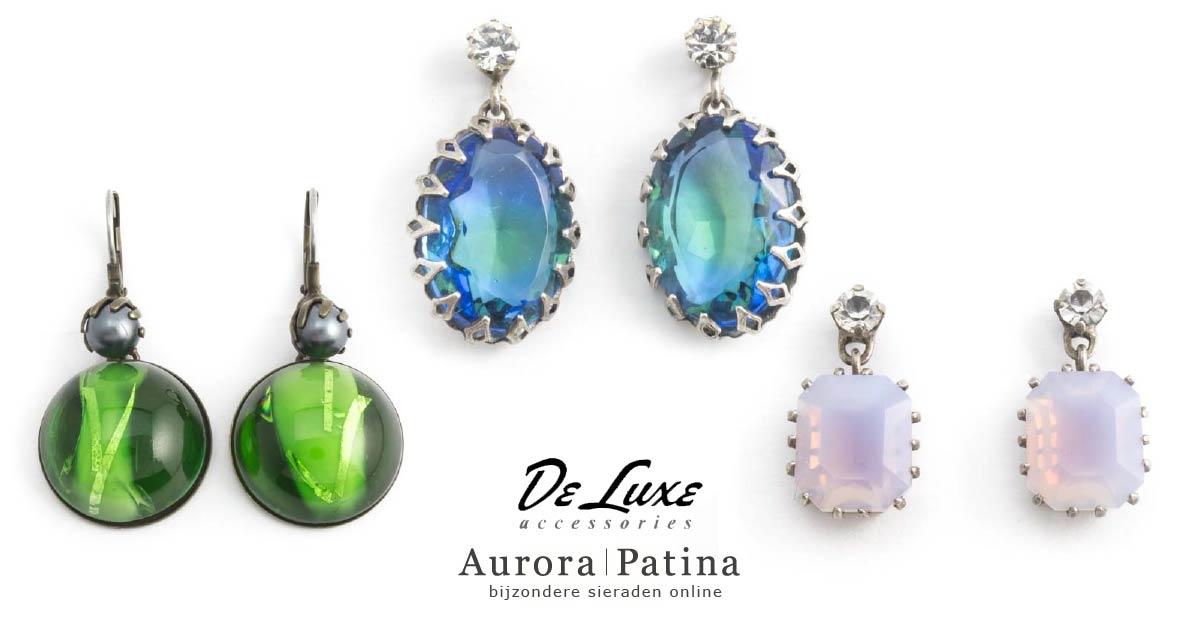Prachtige oorbellen van De Luxe bij Aurora Patina