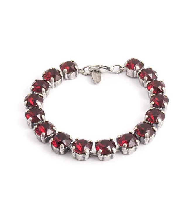 Krikor Robijn rode armband met Swarovski kristallen