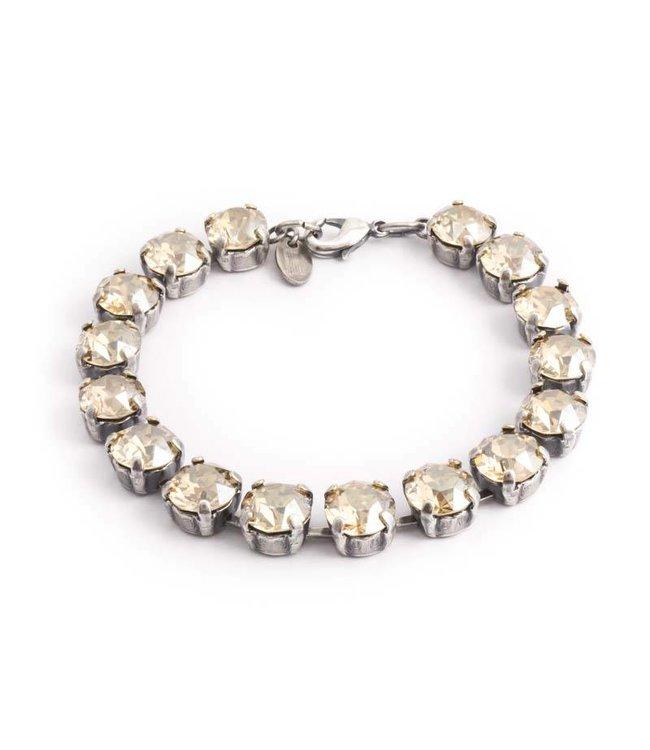 Krikor Beige armband met Swarovski kristallen