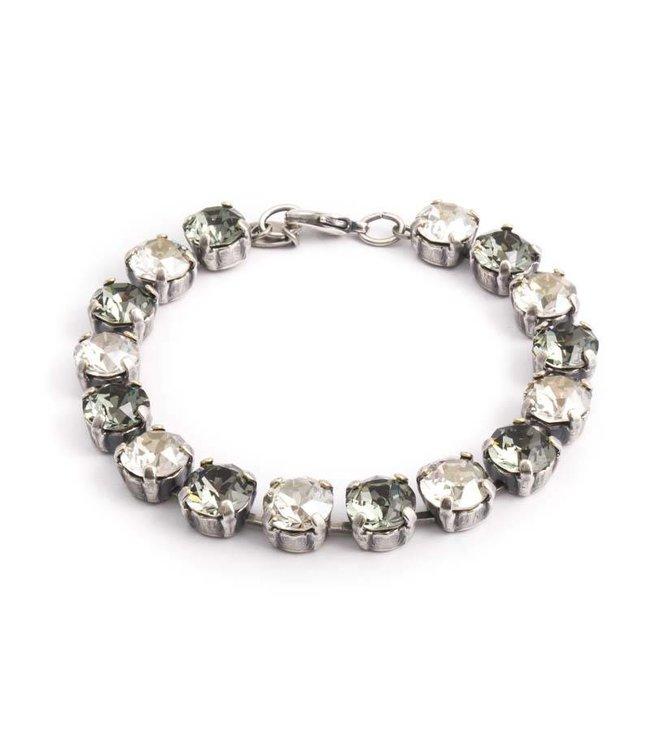 Krikor Grijze armband met Swarovski kristallen