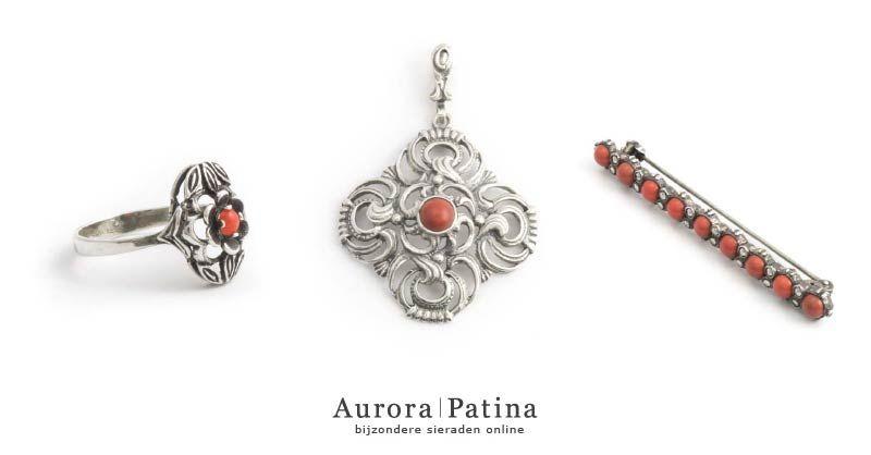 Koraal en bloedkoraal in vintage en antieke sieraden