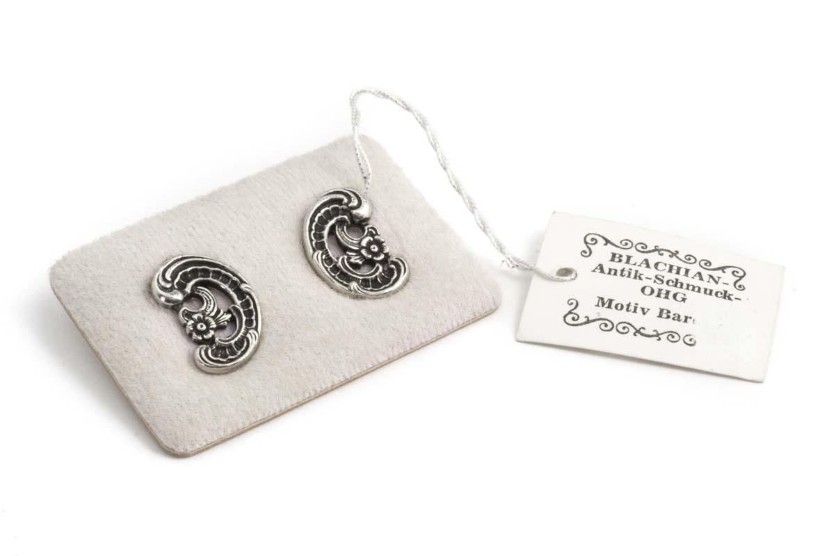 BAS zilveren oorclips met origineel verkoop label