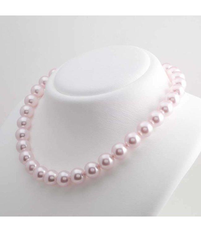 Krikor Roze parel ketting met 12 mm rosalin parels