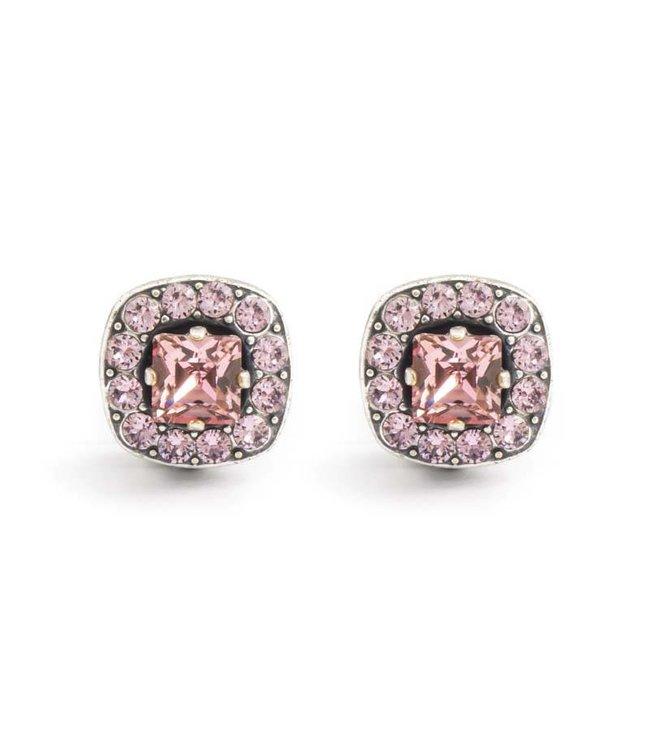 Krikor Roze oorclips met Swarovski Elements kristallen
