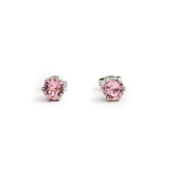 Licht roze oorknopjes 6 mm