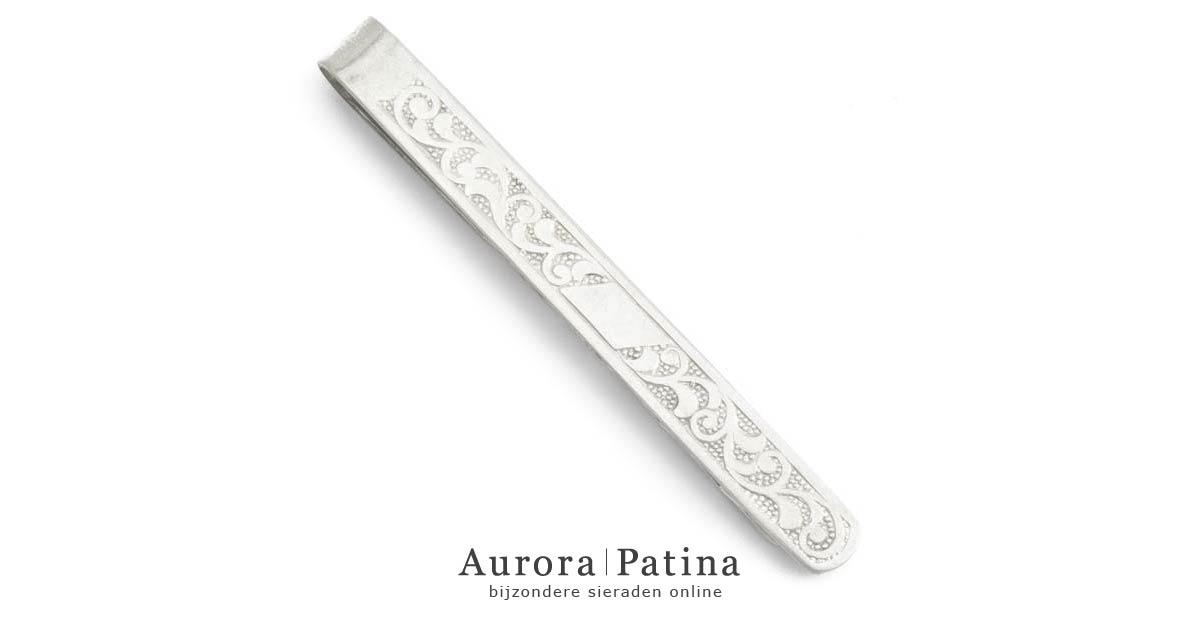 Zilveren dasspeld Art Nouveau