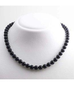 Krikor Zwarte parel ketting 8 mm