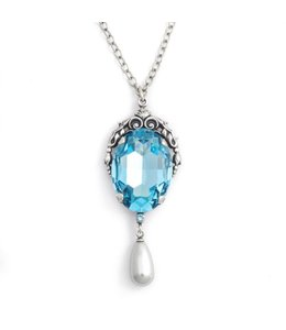 Krikor Blauw collier kristal