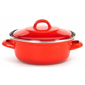 "Braadpan ""Grand-Mere"" - Ø 26 cm. staal - emaille - rood"