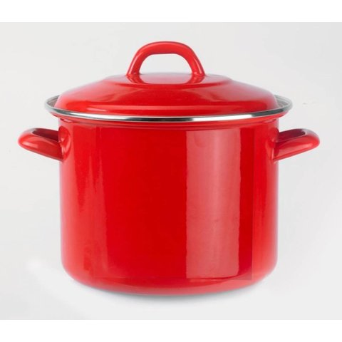 Soeppan rood - emaille - 5 liter - Ø 22cm.