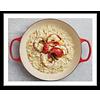 Risottopan-, sudder-, hapjespan met deksel - gietijzer - Ø 30 cm - rood