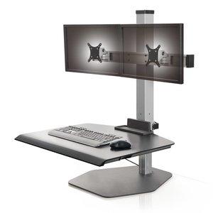 Innovative Winston Dual Freestanding verstelbare werkplek