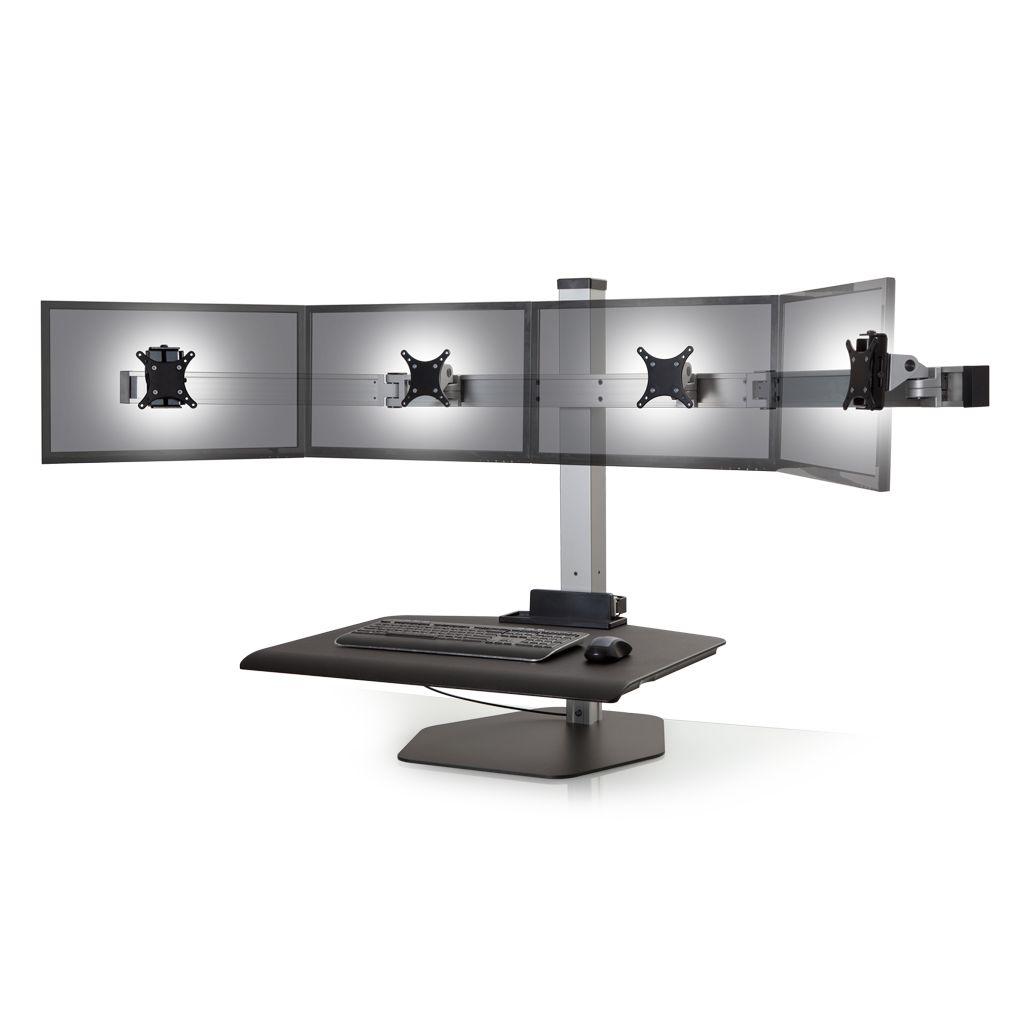 verstelbare werkplek winston quad freestanding ergotopics. Black Bedroom Furniture Sets. Home Design Ideas