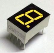 7-segment display Yellow