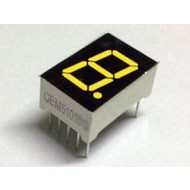 7-segment display Yellow