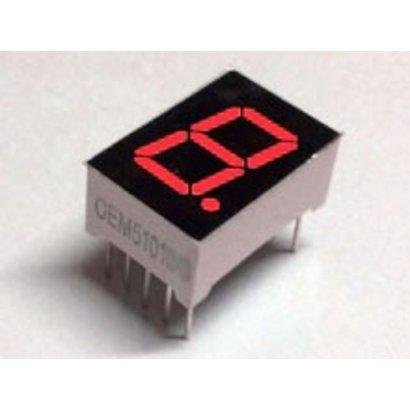 7-segment display Red, Common Cathode