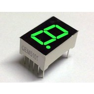 7-segment display Green
