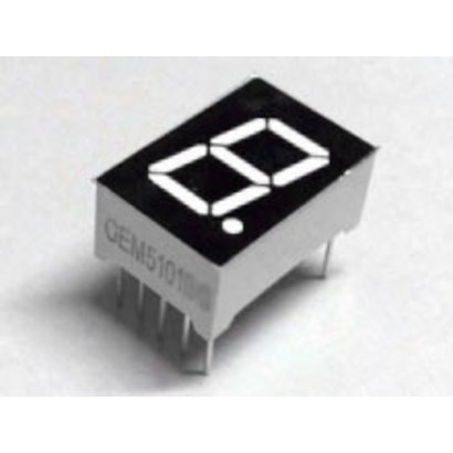 7-segment display White