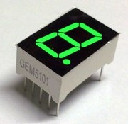 7-segment display Green
