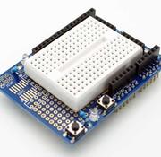 Prototype shield uno with mini breadboard