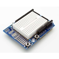 Prototype shield uno with mini breadboard