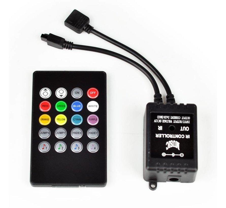 RGB Music Controller, Met IR Afstandsbediening