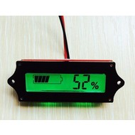 Accu Capaciteitsmeter, 12 Volt met groen verlicht LCD display